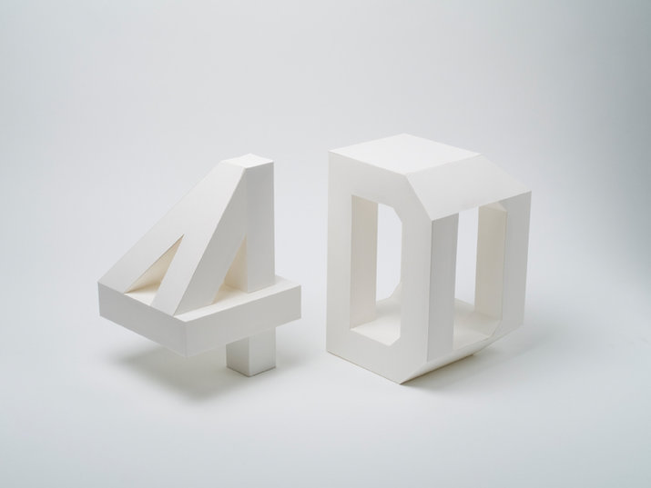 4D Type (Lettering, Exhibitions) by Lo Siento Studio, Barcelona