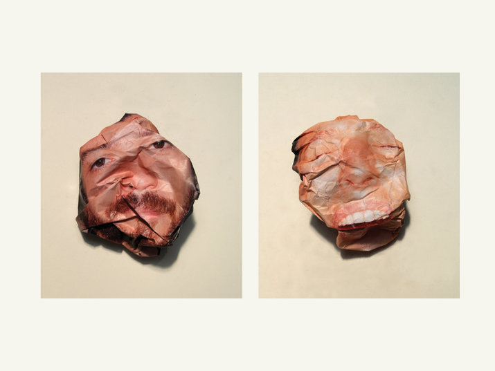 Crushed paper portraits (Self initiated) by Lo Siento Studio, Barcelona