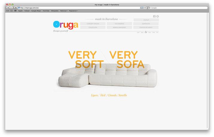 Oruga web design by Lo Siento Studio, Barcelona