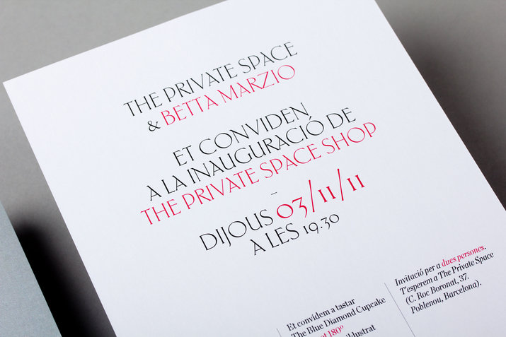 The Private Space Shop Invite (Print, Identity) by Lo Siento Studio, Barcelona